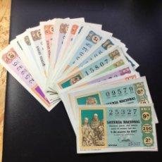 Lotería Nacional: LOTERIA NACIONAL 1967 SORTEO SABADO COMPLETO - TODOS LOS SORTEOS. Lote 262709835