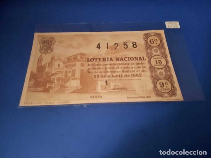 LOTERIA 1962 SORTEO 12 (Coleccionismo - Lotería Nacional)