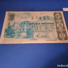 Lotería Nacional: LOTERIA 1962 SORTEO 12. Lote 262826570