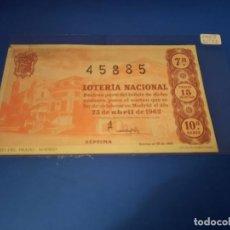 Lotería Nacional: LOTERIA 1962 SORTEO 12. Lote 262826615