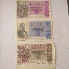 Lotería Nacional: LOTE DECIMOS LOTERÍA ANTIGUOS. Lote 263159525