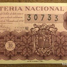 Lotería Nacional: DÉCIMO DE LOTERÍA DEL AÑO 1950, SORTEO N° 35 DEL 15/12/1950.. Lote 264737674