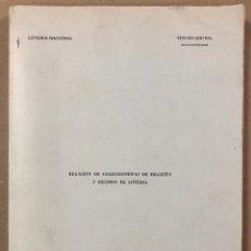 Lotería Nacional: RELACIÓN DE COLECCIONISTAS DE BILLETES Y DÉCIMOS DE LOTERÍA (1981). SECCIÓN CENTRAL COLECCIONISMO. Lote 264785289