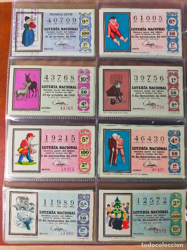 Lotería Nacional: Colección décimos de lotería España años 1967-1990 CAPICUAS Y NUMEROS BAJOS EXCELENTE! - Foto 19 - 265158944