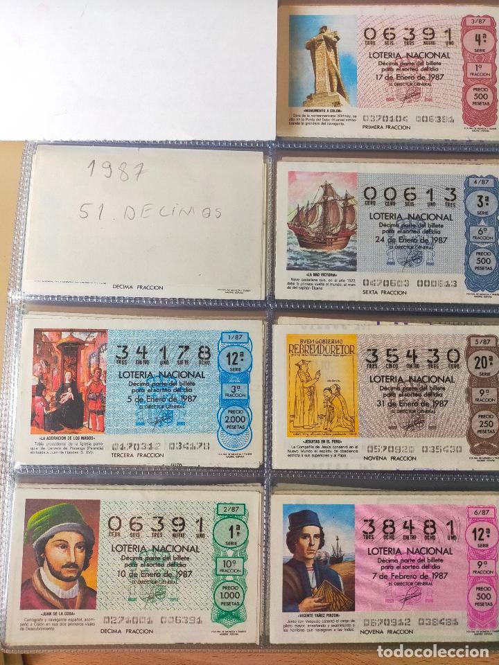 Lotería Nacional: Colección décimos de lotería España años 1967-1990 CAPICUAS Y NUMEROS BAJOS EXCELENTE! - Foto 137 - 265158944