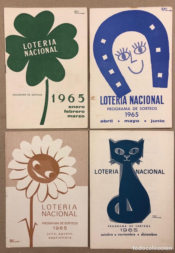 Lotería Nacional: LOTE DE 82 PROGRAMAS DE SORTEOS LOTERÍA NACIONAL (1965-1985). AÑOS COMPLETOS. - Foto 3 - 265773599
