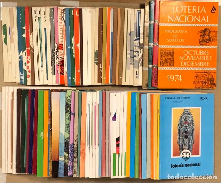 LOTE DE 82 PROGRAMAS DE SORTEOS LOTERÍA NACIONAL (1965-1985). AÑOS COMPLETOS. (Coleccionismo - Lotería Nacional)