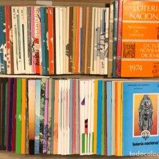 Lotería Nacional: LOTE DE 82 PROGRAMAS DE SORTEOS LOTERÍA NACIONAL (1965-1985). AÑOS COMPLETOS.. Lote 265773599