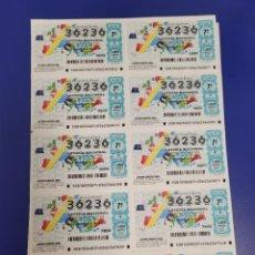Loterie Nationale: LOTERIA NACIONAL AÑO 2000 SORTEO 81 BILLETE COMPLETO SABADO. Lote 268408874