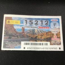 Lotería Nacional: DECIMO LOTERÍA 2021 JUEVES SORTEO 45/21. Lote 269146593