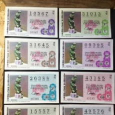 Lotería Nacional: LOTE 8 DECIMOS LOTERIA 1972 CRUZ ROJA (TODAS LAS SERIES). Lote 269149958