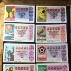 Lotería Nacional: LOTE 8 DECIMOS LOTERIA 1982 5 CIFRAS IGUALES 22222. Lote 269150288