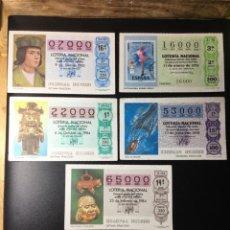 Lotería Nacional: LOTE 5 DECIMOS LOTERIA NÚMEROS EXACTOS. Lote 269150578