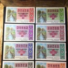 Lotería Nacional: LOTE 8 DECIMOS LOTERIA 1978 CRUZ ROJA (TODAS LAS SERIES). Lote 269234173