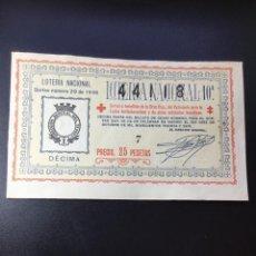 Lotería Nacional: DECIMO LOTERÍA 1936 SORTEO 29/36 GRAN FORMATO. Lote 269235683