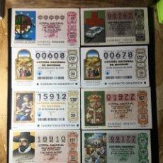 Lotería Nacional: LOTE 10 DECIMOS LOTERIA VARIADOS. Lote 269237463