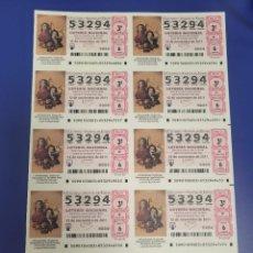 Lotería Nacional: LOTERIA NACIONAL SORTEO 90 DE 2011 BILLETE COMPLETO SABADO. Lote 269305983