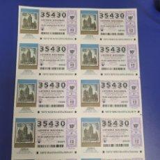 Lotería Nacional: LOTERIA NACIONAL SORTEO 72 DE 2011 BILLETE COMPLETO SABADO. Lote 269306423