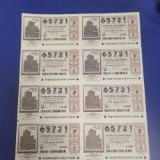 Lotería Nacional: LOTERIA NACIONAL SORTEO 68 DE 2011 BILLETE COMPLETO SABADO. Lote 269306573