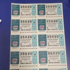 Lotería Nacional: LOTERIA NACIONAL SORTEO 62 DE 2011 BILLETE COMPLETO SABADO. Lote 269306648