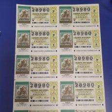 Lotería Nacional: LOTERIA NACIONAL SORTEO 60 DE 2011 BILLETE COMPLETO SABADO. Lote 269306743