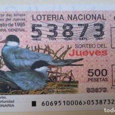 Lotería Nacional: LOTERÍA NACIONAL DEL JUEVES 1995 SORTEO 69. Lote 269439568