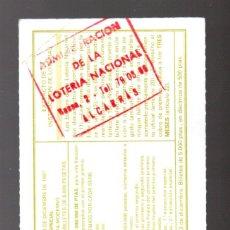 Lotería Nacional: LOT. NACIONAL - ADMINIST. DE ALCARRÁS (LLEIDA) - 6/DICIEMBRE/97 - SORTEO 98 - NÚMERO 66596 -. Lote 269833343
