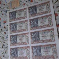 Lotería Nacional: PLIIEGO COMPLETO DE DECIMOS DE LOTERÍA NACIONA..1957.SERIE 5..PRECIO 400 PESETAS.. Lote 270371163