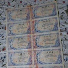 Lotería Nacional: PLIEGO COMPLETO. LOTERIA NACIONAL SORTEO DE NAVIDAD 22 DICIEMBRE 1924. Lote 270382203