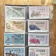 Lotería Nacional: LOTE LOTERIA 9 AÑOS COMPLETOS JUEVES DESDE 1991 A 1999. Lote 271587438
