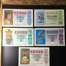 Lotería Nacional: LOTE 5 DECIMOS LOTERIA NÚMEROS EXACTOS. Lote 271588193