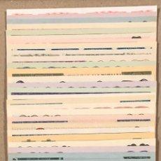 Lotería Nacional: LOTERÍA AÑO 1957 36 DÉCIMOS, TODOS LOS SORTEOS (AÑO COMPLETO).. Lote 275094498