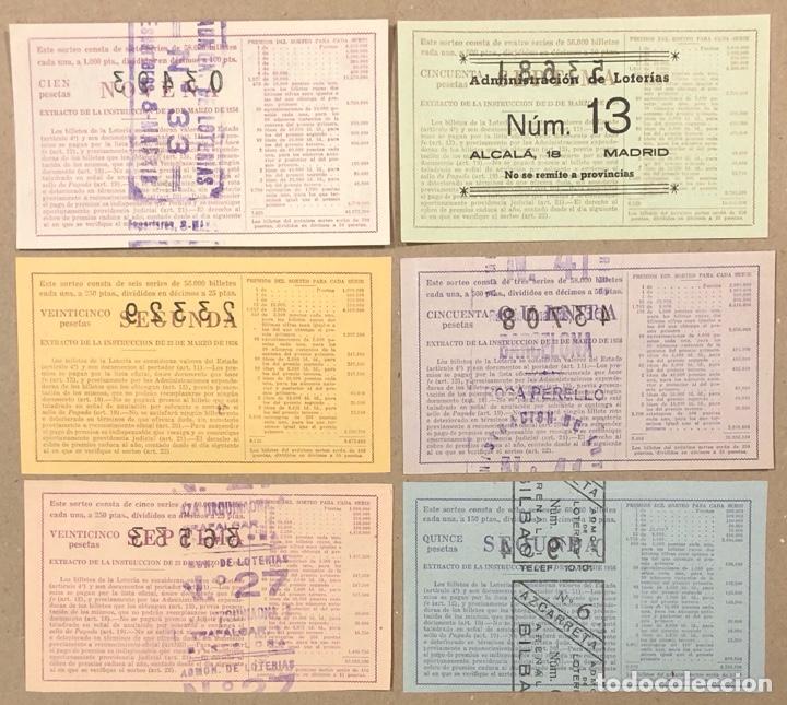Lotería Nacional: LOTERÍA AÑO 1959 36 DÉCIMOS, TODOS LOS SORTEOS (AÑO COMPLETO). - Foto 3 - 275103323