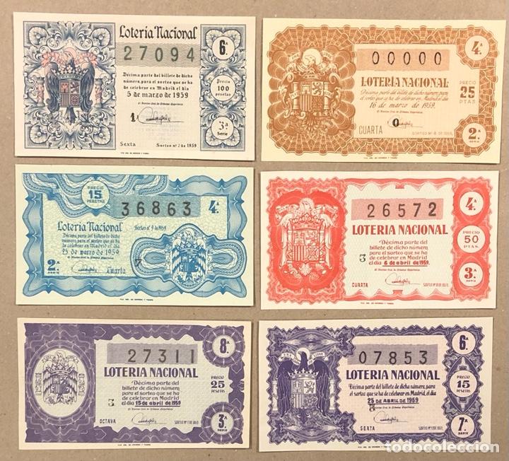 Lotería Nacional: LOTERÍA AÑO 1959 36 DÉCIMOS, TODOS LOS SORTEOS (AÑO COMPLETO). - Foto 4 - 275103323