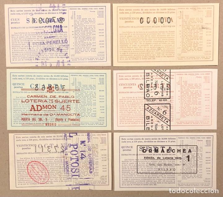 Lotería Nacional: LOTERÍA AÑO 1959 36 DÉCIMOS, TODOS LOS SORTEOS (AÑO COMPLETO). - Foto 5 - 275103323