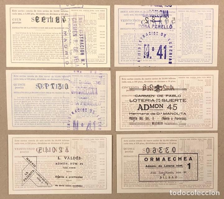 Lotería Nacional: LOTERÍA AÑO 1959 36 DÉCIMOS, TODOS LOS SORTEOS (AÑO COMPLETO). - Foto 7 - 275103323