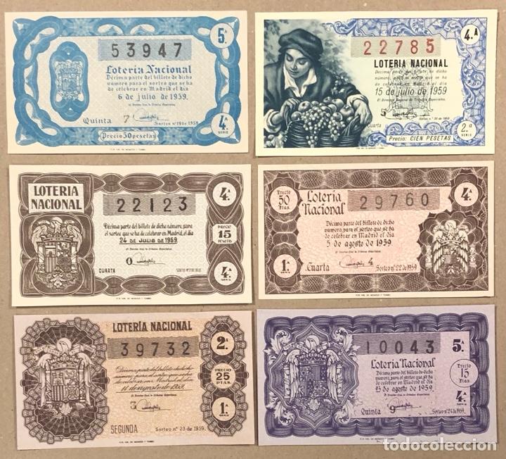 Lotería Nacional: LOTERÍA AÑO 1959 36 DÉCIMOS, TODOS LOS SORTEOS (AÑO COMPLETO). - Foto 8 - 275103323
