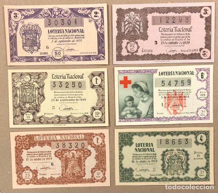 Lotería Nacional: LOTERÍA AÑO 1959 36 DÉCIMOS, TODOS LOS SORTEOS (AÑO COMPLETO). - Foto 10 - 275103323