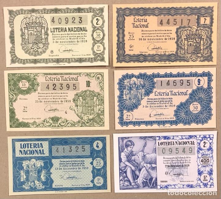 Lotería Nacional: LOTERÍA AÑO 1959 36 DÉCIMOS, TODOS LOS SORTEOS (AÑO COMPLETO). - Foto 12 - 275103323