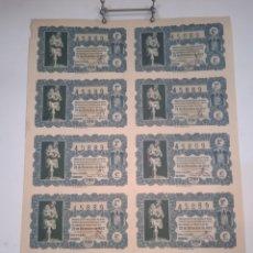 Lotería Nacional: HOJA SEGUNDA SERIE ENTERA DECIMOS LOTERIA NAVIDAD 22 DICIEMBRE 1953 - Nº:45889 - VER TODAS LAS FOTOS. Lote 276469528