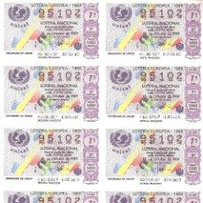 Lotería Nacional: BILLETE LOTERÍA Nº 41 AÑO 1989. Lote 277237923