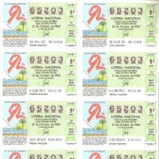 Lotería Nacional: BILLETE LOTERÍA Nº 42 AÑO 1989. Lote 277239643