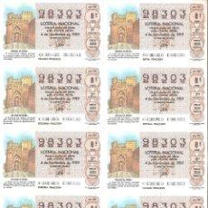 Lotería Nacional: BILLETE LOTERÍA Nº 44 AÑO 1989. Lote 277240813
