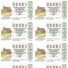 Lotería Nacional: BILLETE LOTERÍA Nº 45 AÑO 1989. Lote 277241248