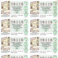 Lotería Nacional: BILLETE LOTERÍA Nº 48 AÑO 1989. Lote 277242688
