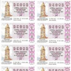 Lotería Nacional: BILLETE LOTERÍA Nº 49 AÑO 1989. Lote 277262158