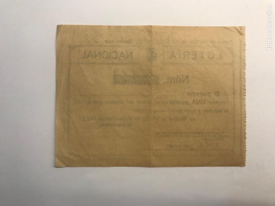 Lotería Nacional: LOTERÍA NACIONAL Valencia, participación de 1 peseta (a.1928) - Foto 2 - 277286053