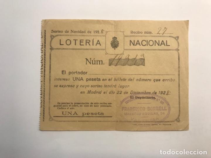 LOTERÍA NACIONAL VALENCIA, PARTICIPACIÓN DE 1 PESETA (A.1928) (Coleccionismo - Lotería Nacional)