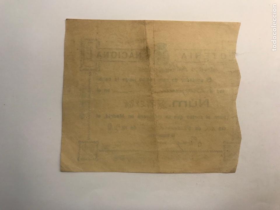 Lotería Nacional: LOTERÍA NACIONAL Valencia, participación de 1 peseta (a.1928) - Foto 2 - 277286418