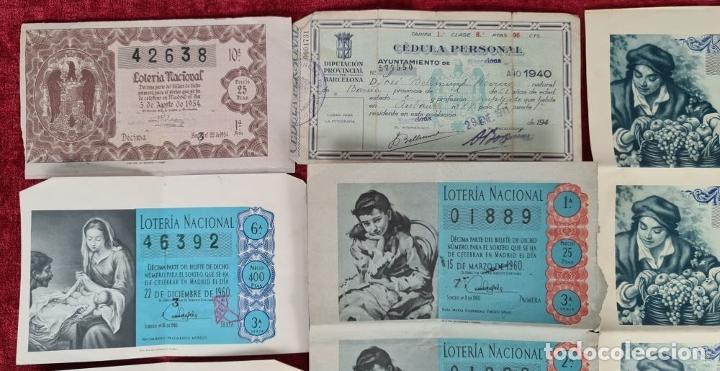 Lotería Nacional: COLECCION DE 19 BILLETES DE LOTERIA NACIONAL. VARIAS ADMINISTRACIONES. SIGLO XX. - Foto 2 - 277571073